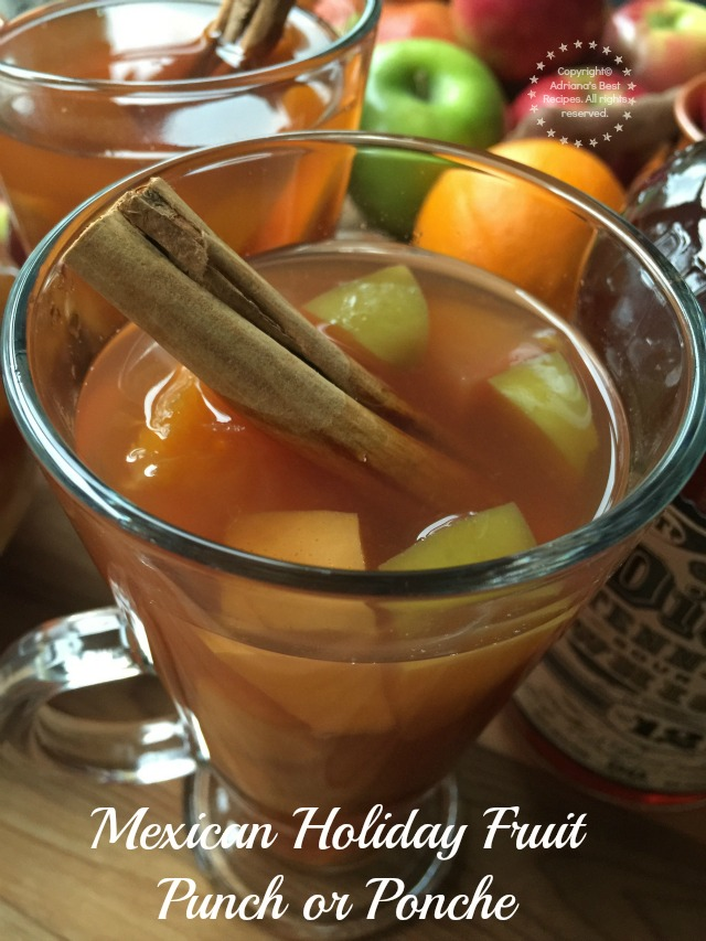 Smooth and comforting Mexican Holiday Fruit Punch or Ponche with George Dickel #12 Tennessee whiskey