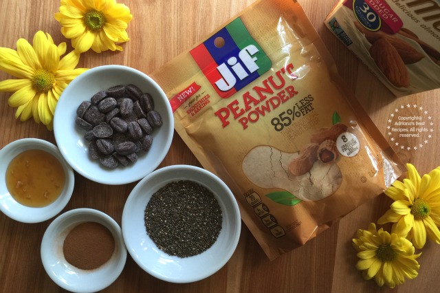 Ingredients for the Mexican Cocoa Peanut Delight Smoothie #StartWithJifPowder AD