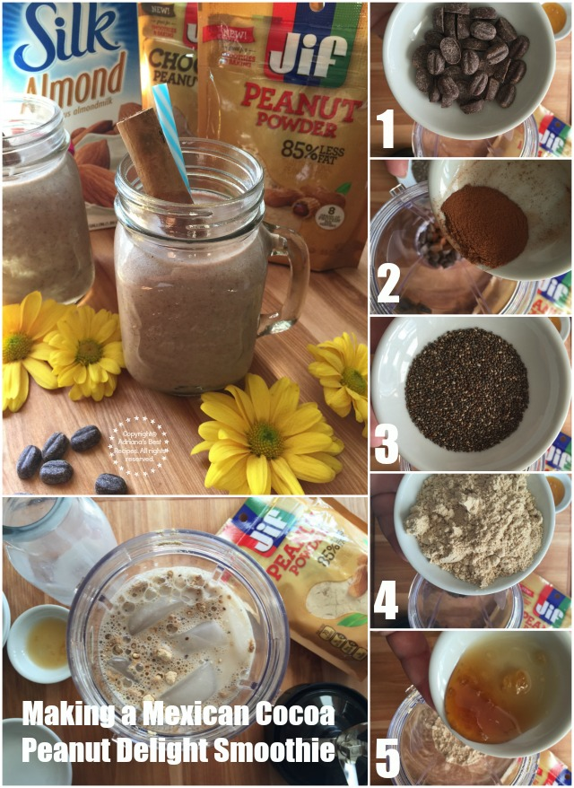Making a Mexican Cocoa Peanut Delight Smoothie #StartWithJifPowder AD