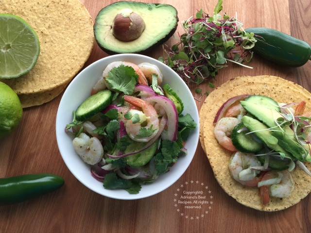 You can also serve the shrimp aguachile in small bowls