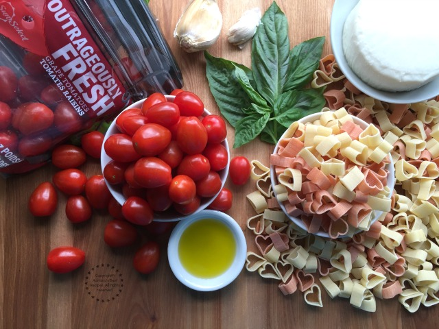 Ingredients for making the tomato love pasta