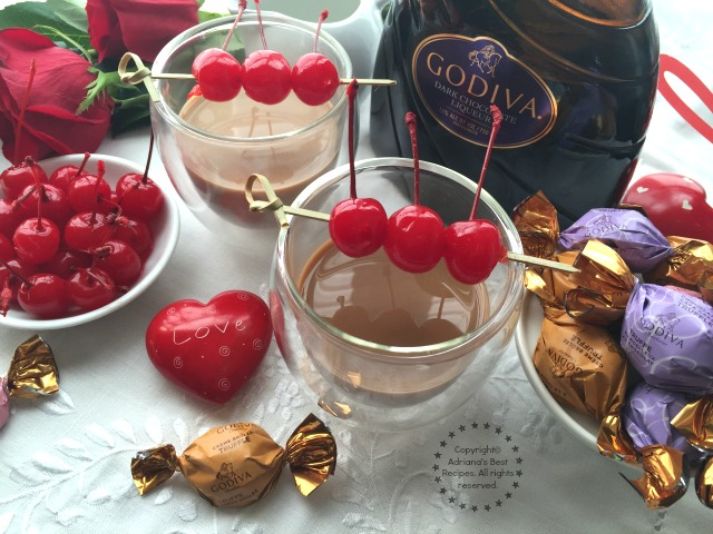 Mexican Kiss Cocktail with Godiva Dark Chocolate Liqueur