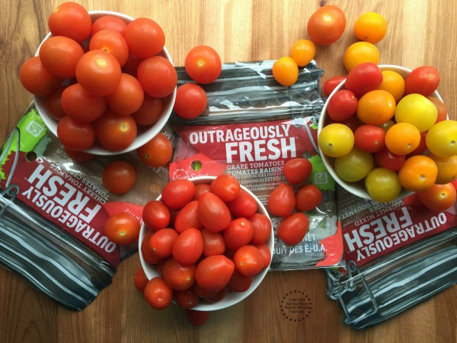 The Outrageously Fresh tomatoes you can eat as a snack or on the go since come packaged in a convenient stand-up zip-lock mason jar bag
