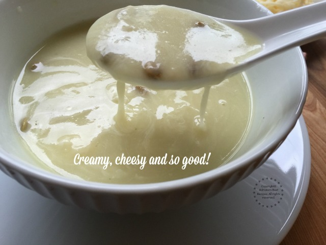 A spoonful of chayote cream soup