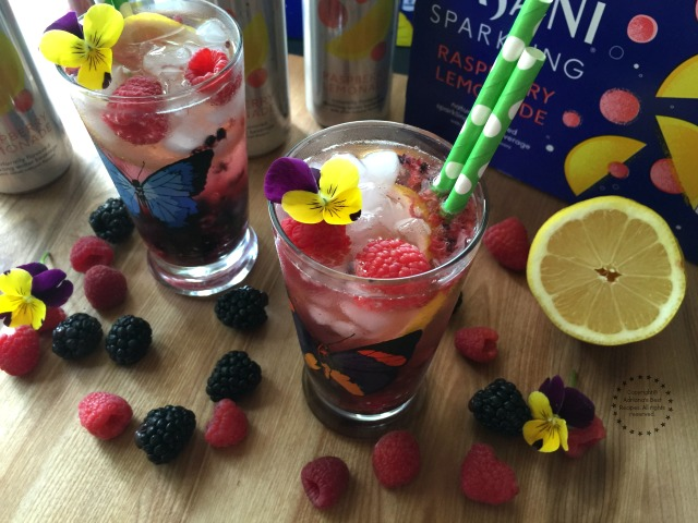 Cheering with a refreshing Berry Lemonade Sparkler