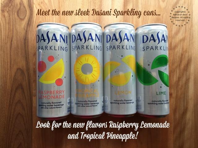 Meet the new sleek Dasani Sparkling cans