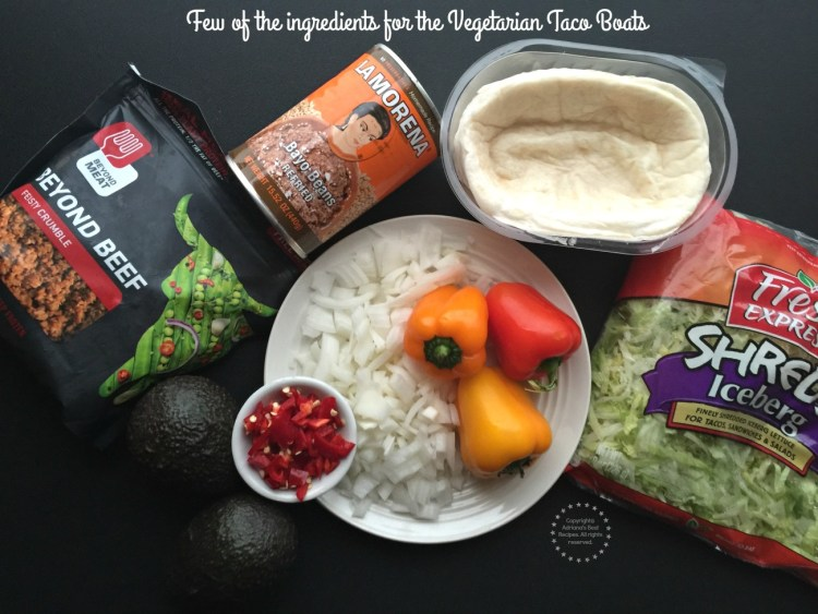 Few of the ingredients for the vegetarian taco boats