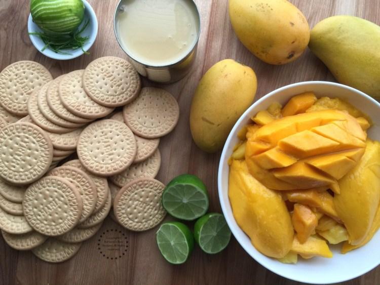 Ingredients for making the Manila Mango Charlotte