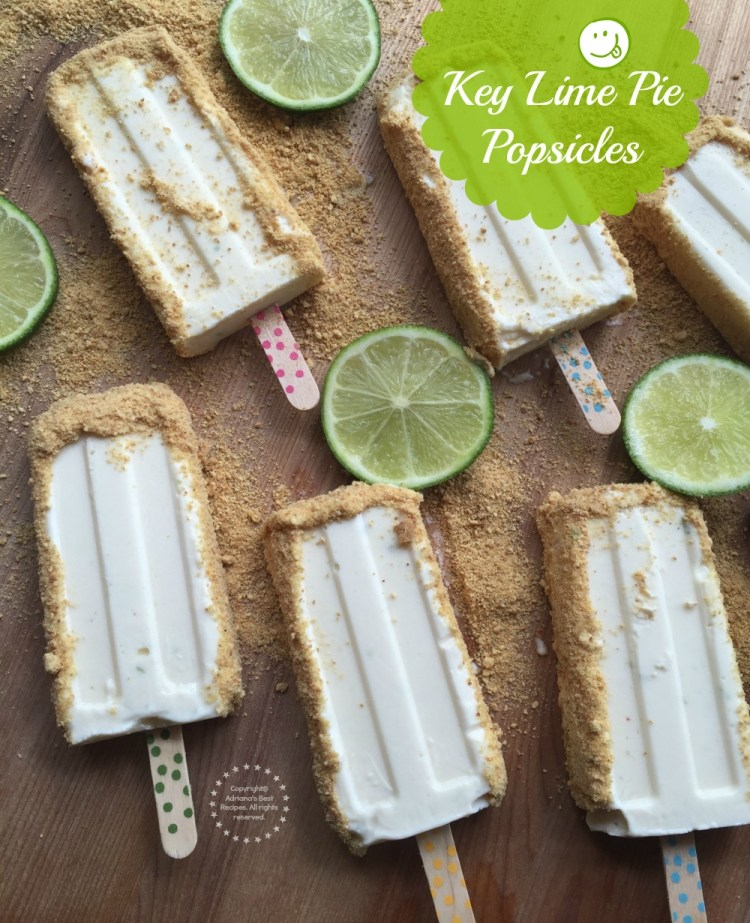 Key Lime Pie Popsicles only five ingredients