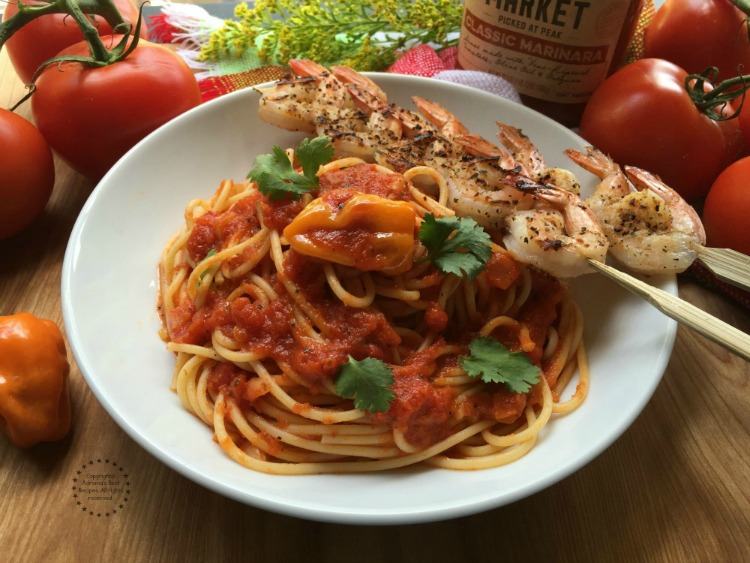 The Prego Farmers Market Classic Marinara pairs very nicely with this pasta dish