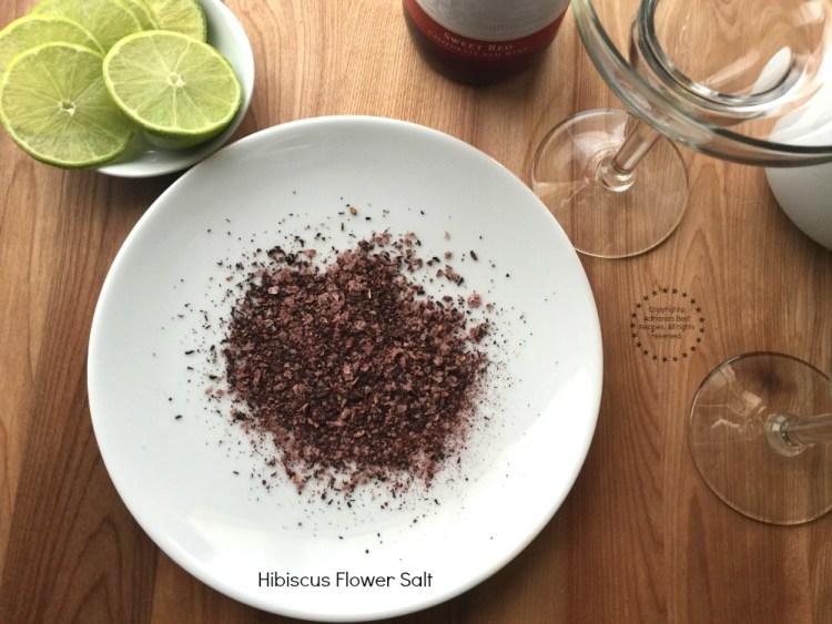 Using hibiscus flower salt for the rim