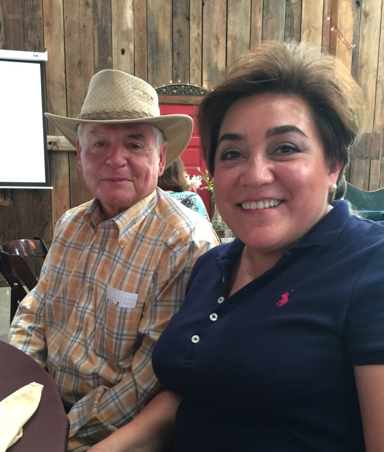 Adriana Martin with Capay Valley Ranches Owner Mr Chris Steele