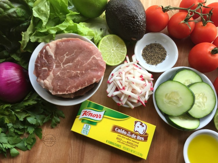 Ingredients for the Grilled Beef Tenderloin Salad