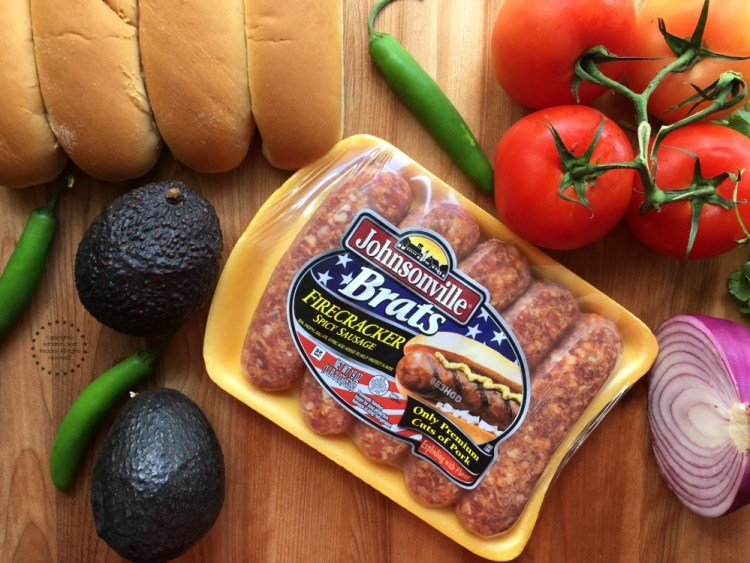Ingredients for the Spicy Firecracker Pork Brats