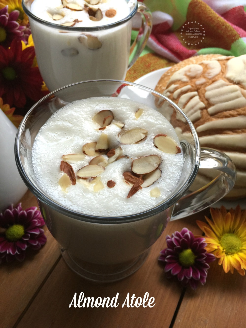 Almond atole recipe to celebrate Hispanic Heritage Month with milk