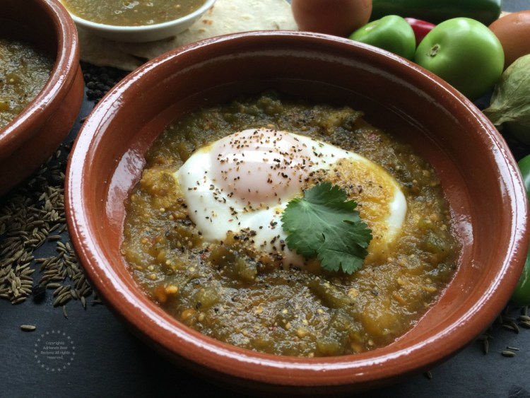 Preparing the green ranchero eggs recipe is very simple