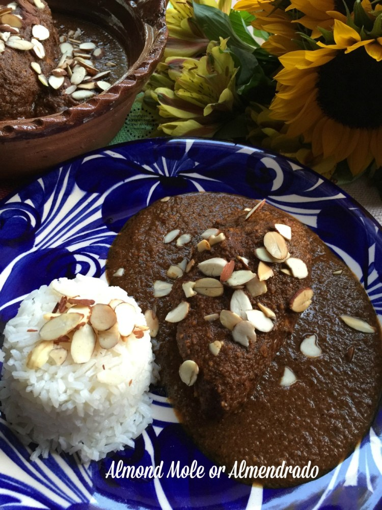 Almond mole or almendrado for Day of the Dead dinner celebrations