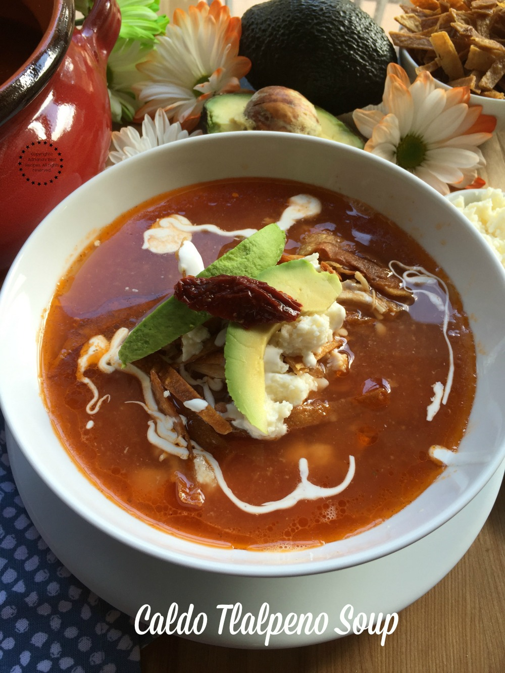 Caldo Tlalpeno Soup a comforting option for a cold day