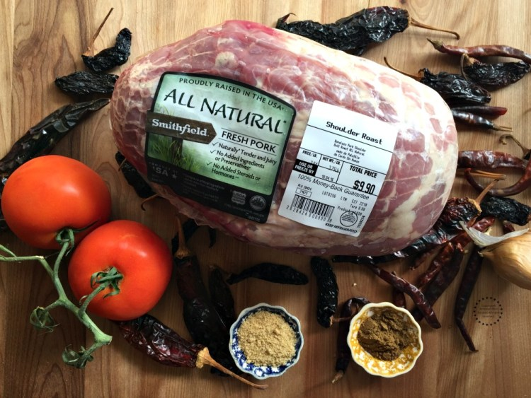 Ingredients for the Mexican Adobo Pork Shoulder