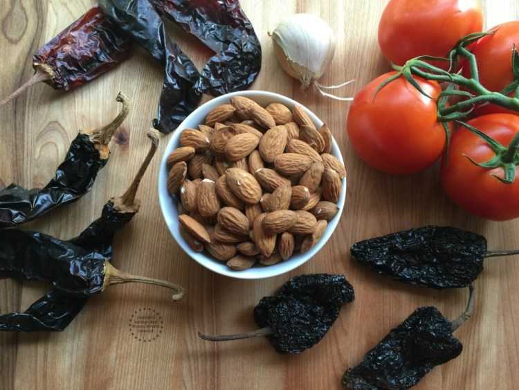 Ingredients for the almond mole or almendrado