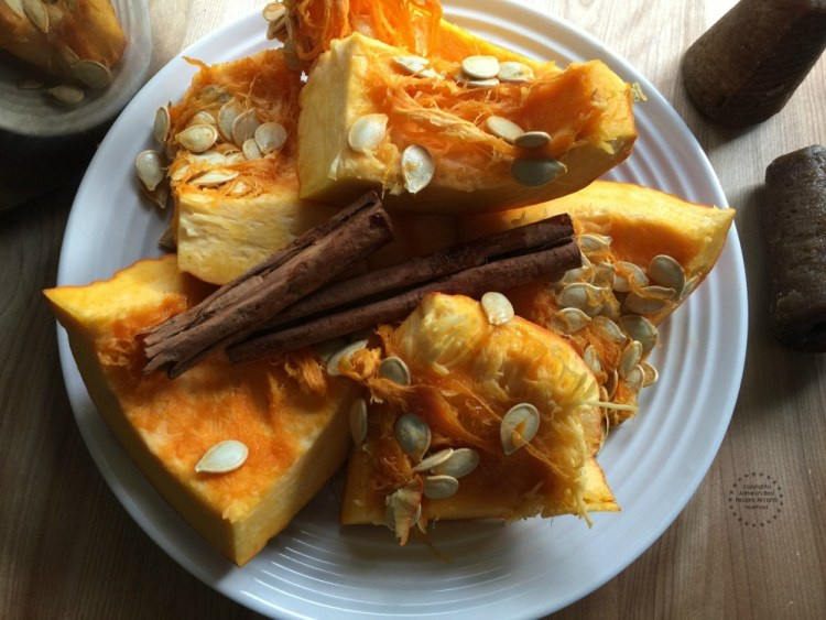 You will need 8 - 10 pieces of pumpkin for making the candied pumpkin recipe