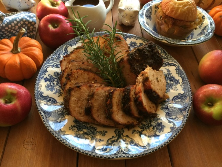 Chipotle Apple Beer Pork Loin for Thanksgiving