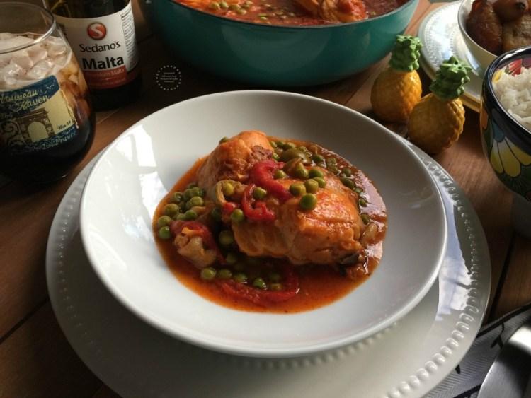 Cuban Chicken Fricassee or Fricasé de Pollo a la Cubana