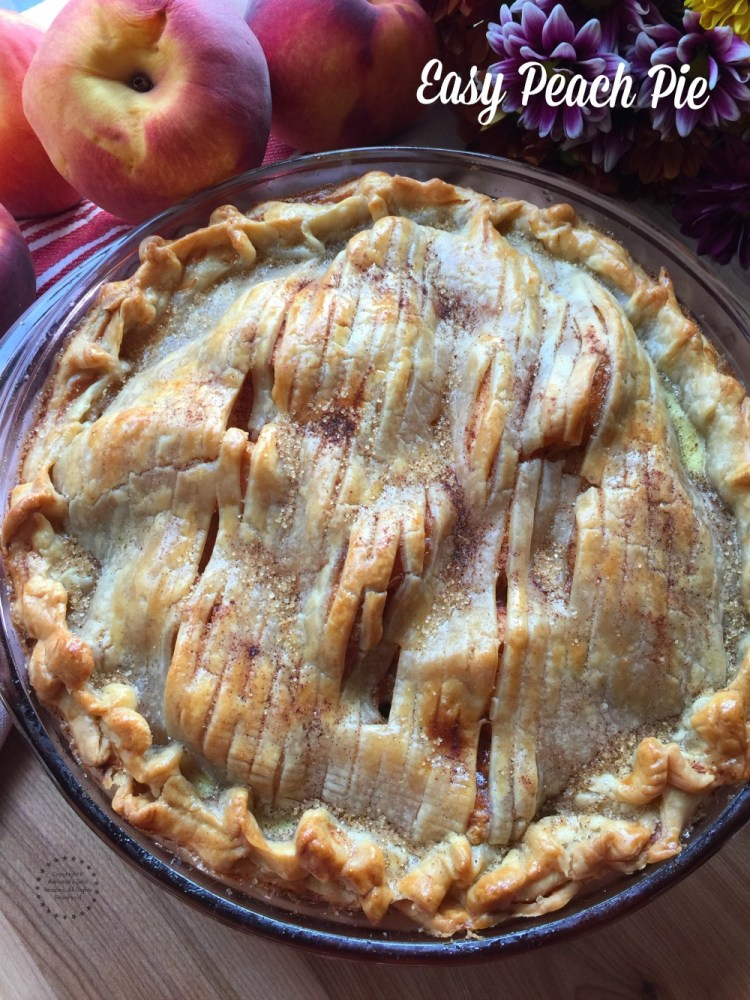 Peach pie, the perfect ending to a special holiday meal