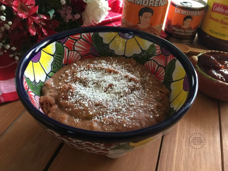 Refried beans are a must have in any Mexican table