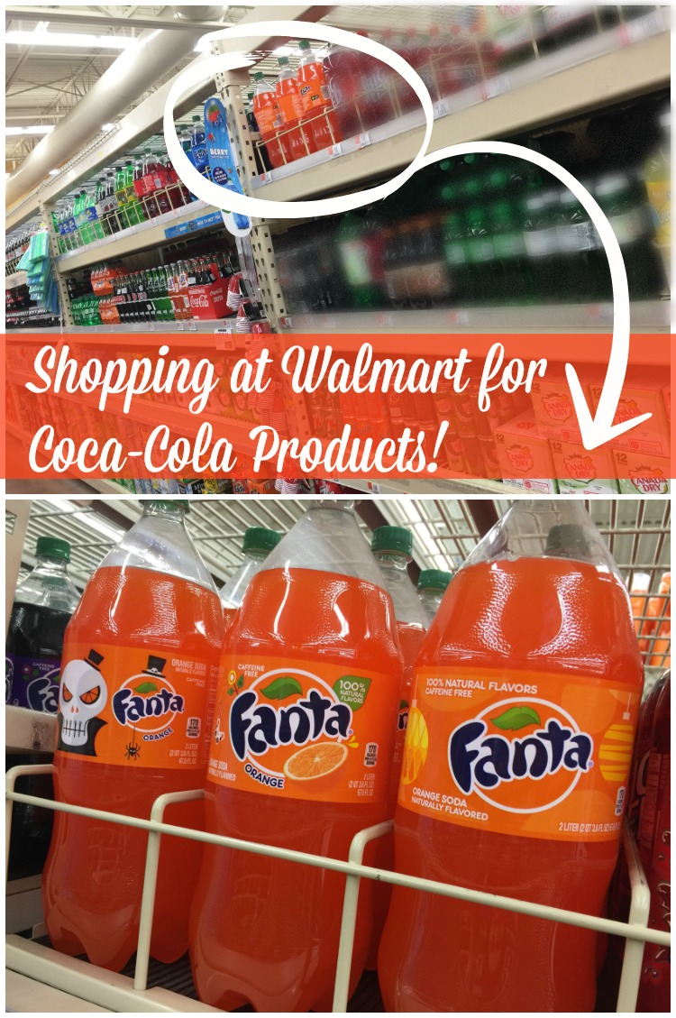 Shopping at Walmart for Coca-Cola Products