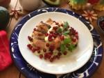 Pollo en Crema de Aguacate con Granada