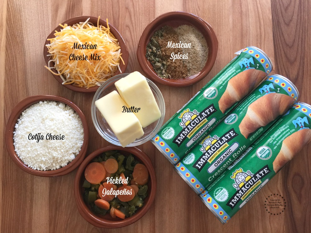 Ingredients for the Monkey Bread Mexican Style