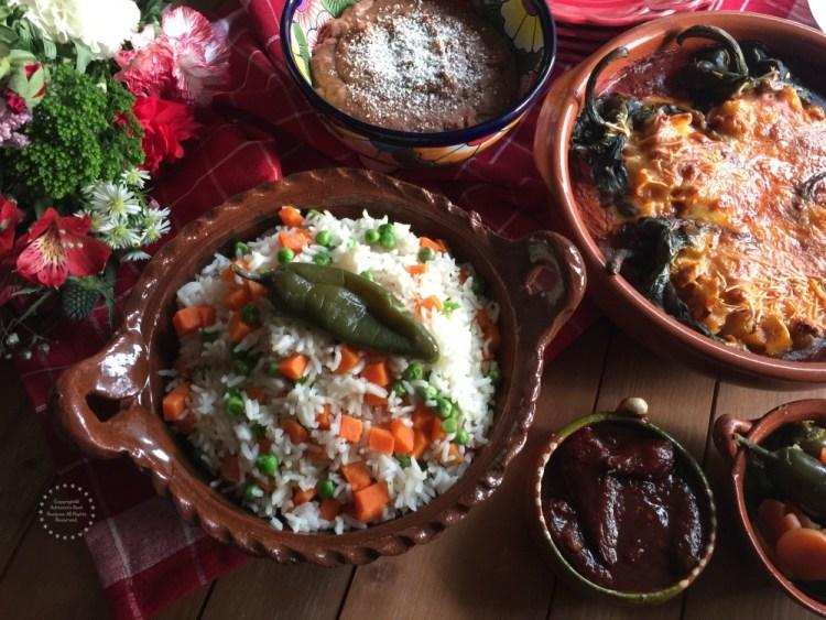 Menu for Las Posadas Party