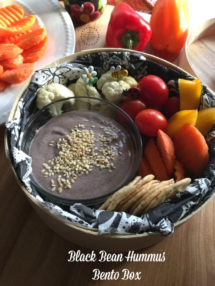 Black Bean Hummus and Veggies Bento Box