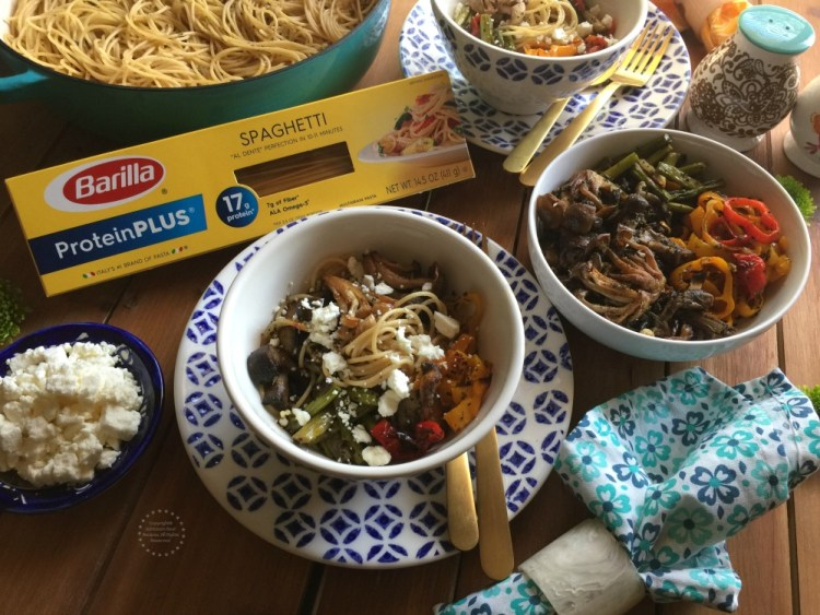 A delicious Roasted Veggies Protein Pasta ready in no time