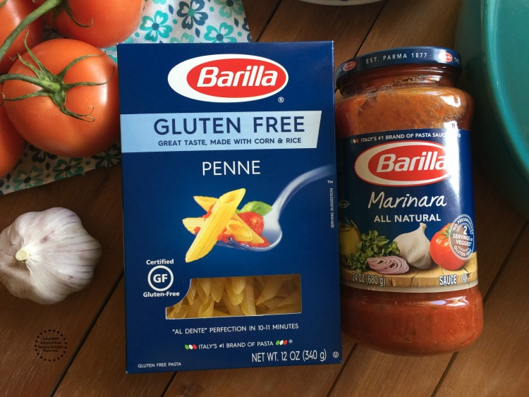 Barilla Gluten Free Pasta y Barilla Marinara