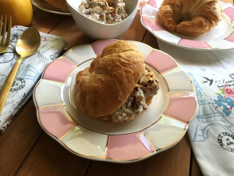 Almond Cherry Chicken Salad Croissant Recipe