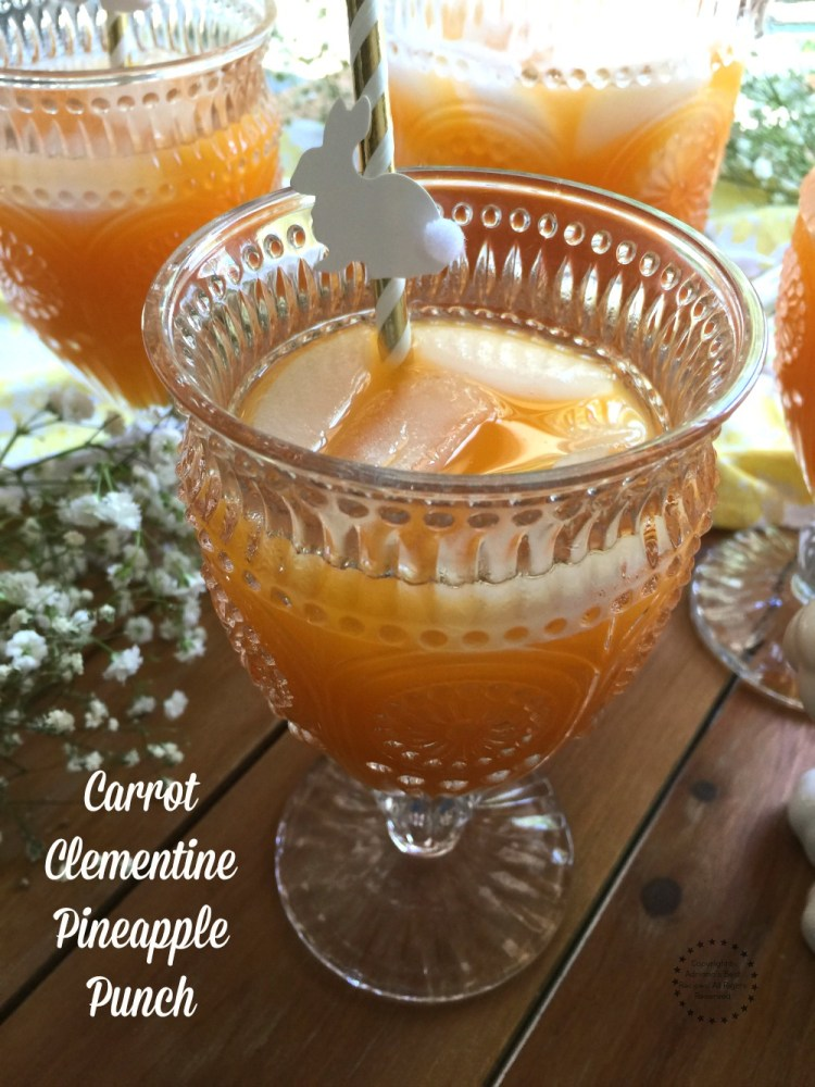 Carrot Clementine Pineapple Punch made with freshly pressed juice