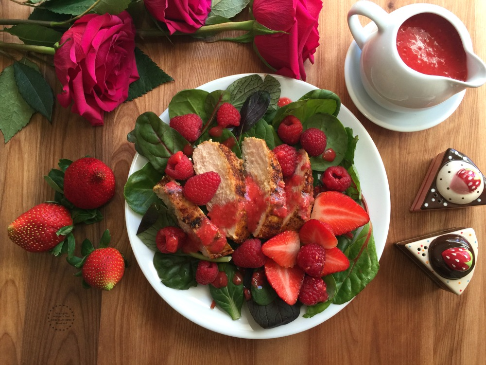 Incredibly fresh Sriracha Raspberry Chicken Salad