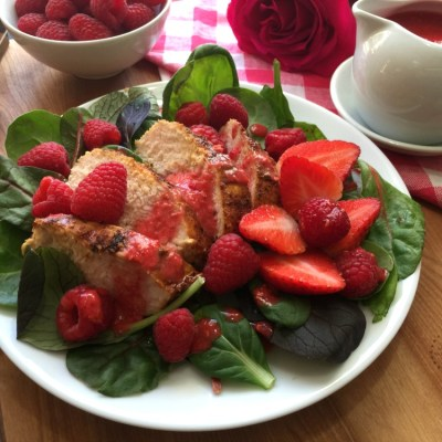 Sriracha Raspberry Chicken Salad