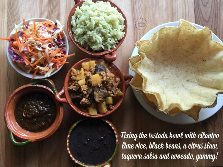 Fixing the Mexican Turkey Picadillo Tostada Bowl