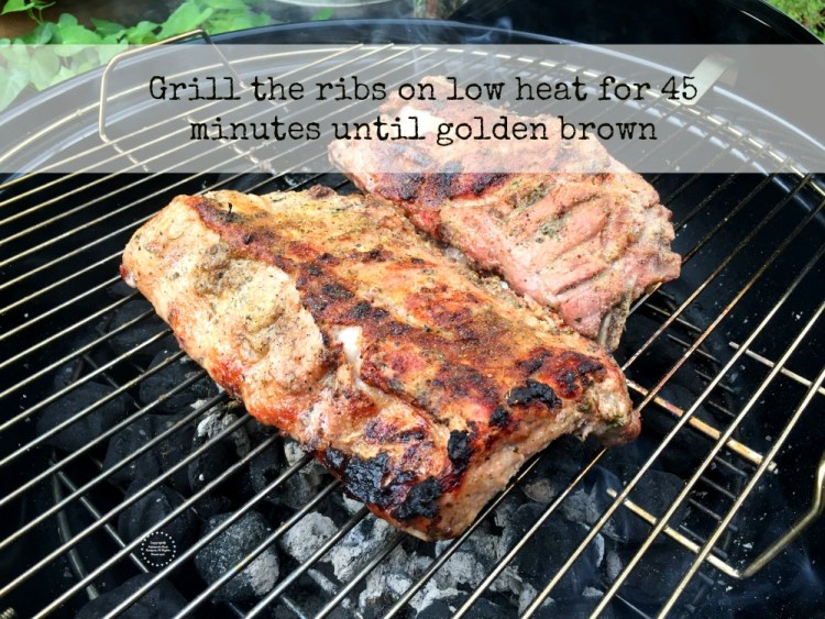 Grill the ribs for 45 minutes