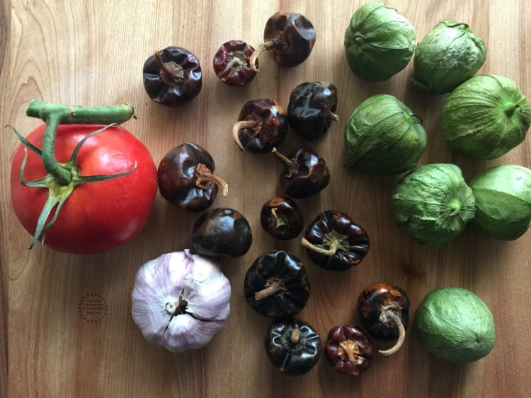 Ingredients for the Cascabel Taquera Sauce