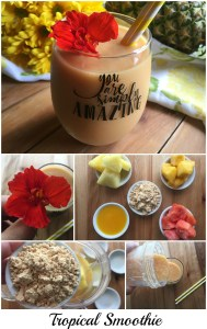 Delicious papaya pineapple mango smoothie to surprise mom any day of the week