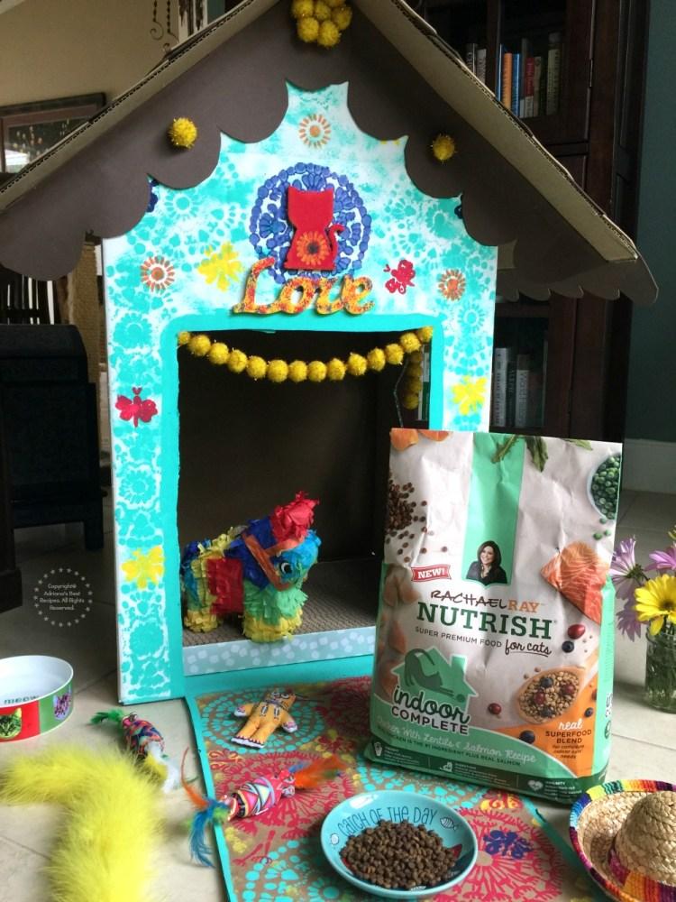 A fun DIY for an indoor cat playhouse
