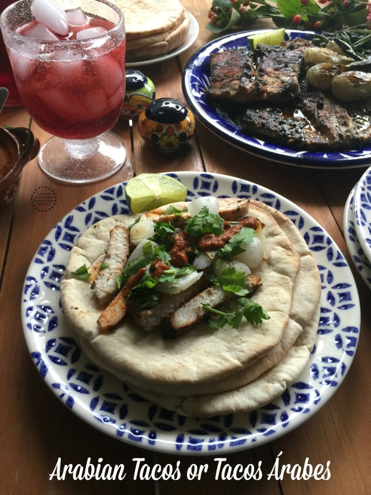 Arabian tacos are the fast food par excellence in the city of Puebla. Made with marinated pork and served on freshly made Arabian bread with chipotle sauce