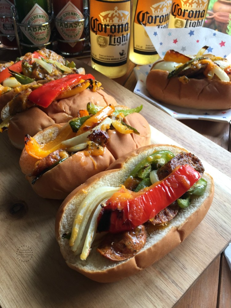 Pairing the Chicken Fajita Hot Dogs with Mexican Beer