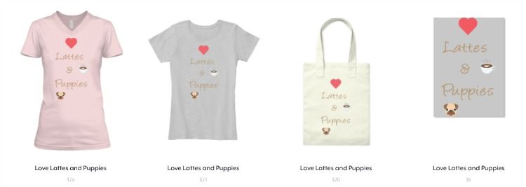 Love Lattes and Puppies Collection