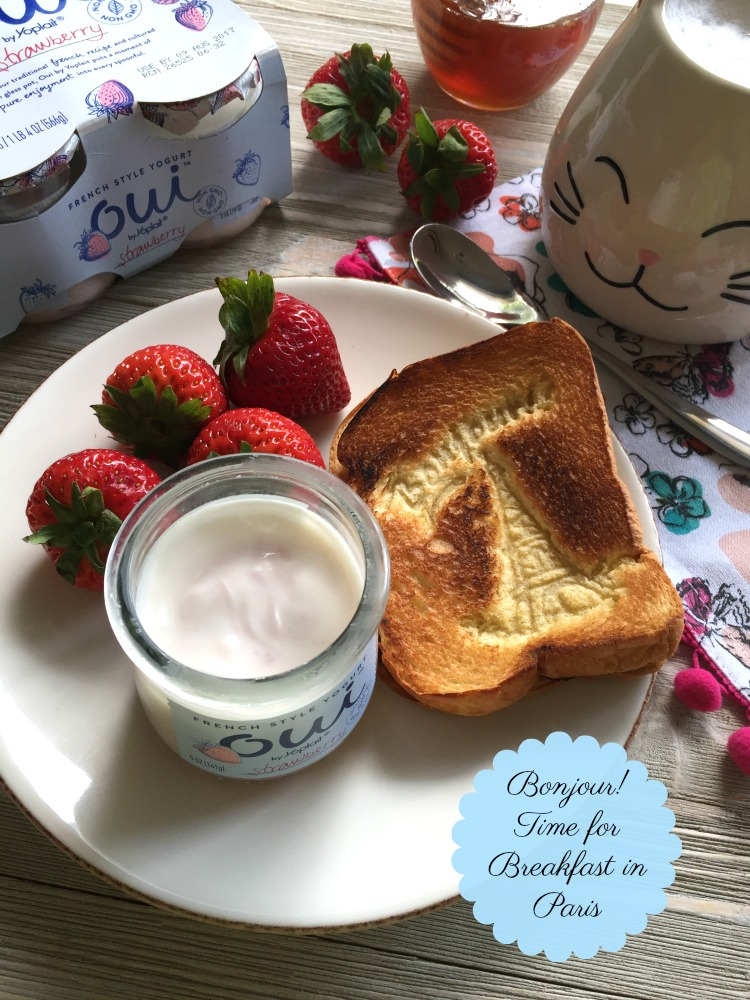 Bonjour today we want a breakfast in Paris in the convenience of our own home while savoring French style yogurt inspired by the traditional French recipe