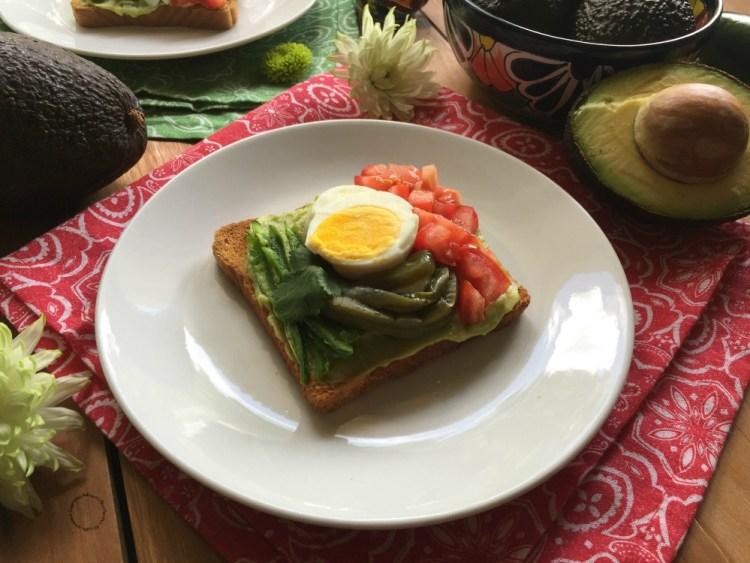Mexican Avocado Toast for Hispanic Heritage